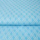 Textil - tyrkysový ornament; 100 % bavlna, šírka 140 cm, cena za 0,5 m - 6636542_