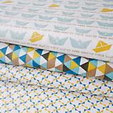 Textil - lodičky; 100 % bavlna, šírka 160 cm, cena za 0,5 m - 6636660_