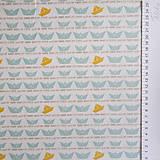 Textil - lodičky; 100 % bavlna, šírka 160 cm, cena za 0,5 m - 6636748_