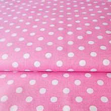 Textil - ružové bodky; 100 % bavlna, šírka 140 cm, cena za 0,5 m - 6636456_