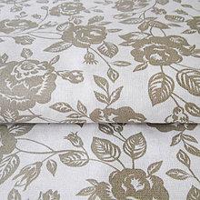 Textil - kvety; 100 % bavlna, šírka 140 cm, cena za 0,5 m - 6636570_