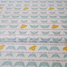 Textil - lodičky; 100 % bavlna, šírka 160 cm, cena za 0,5 m - 6636652_