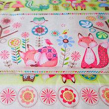 Textil - líštičky II (Friendly Forrest); 100 % bavlna 30 x 110 cm - 6636850_