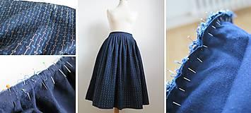 Sukne - riasená sukňa po babičke - zo starého nové - 6635863_