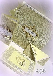 "Papiernictvo - Svadobná kolekcia "" Bozk nehy II."" - 6636374_"