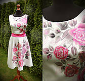 Šaty - Maľba ruží na saténové šaty... - 6635249_