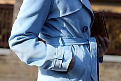 Kabáty - Svetlo modrý trenčkot - 6636921_