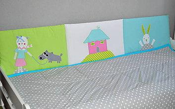 Úžitkový textil - Mantinel na stenu Zvieratká 50x200cm - 6641136_