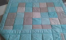 Úžitkový textil - prehoz na posteľ tyrkysová 200x200 cm - 6641182_