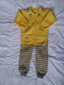 Detské oblečenie - svetrík a nohavice Linka - 6640292_