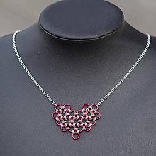 Náhrdelníky - Náhrdelník Valentine II (červený) - 6637477_
