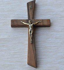 Dekorácie - Svadobný kríž orech - 6637448_