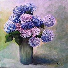 Obrazy - Elegancia hortenzií /znížená cena/ - 6638005_