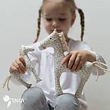 Hračky - kobylka so žriebätkom - 6637510_