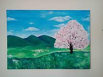 Obrazy - rozkvitnutý strom - 6638128_