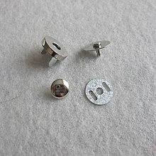 Galantéria - Magnetické zapínanie 18 mm Ni s nitom - 6638395_