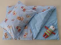 Obojstranné obliečky bavlnené 100 x 140 / 40 x 60 cm Psíčkovia a bodky