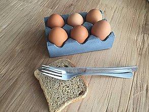 Nádoby - Betónový stojan na vajíčka KINDE - 6638092_