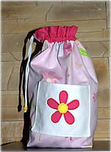 Detské tašky - Ruksak,batôžtek s kvetinkou, 35X30 - 6640969_