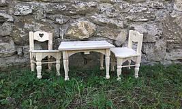 Detské doplnky - Stôl + 2 detské stoličky - 6638362_