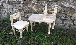 Detské doplnky - Stôl + 2 detské stoličky - 6638469_