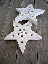 Dekorácie - Hviezda - snehová vločka väčšia - 6641459_