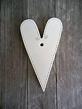 Dekorácie - Srdiečko atyp medium - 6645794_