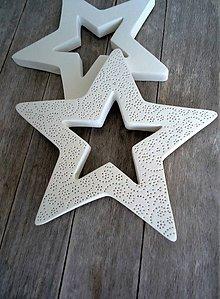 Dekorácie - Hviezda veľká zdobená - 6645850_