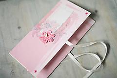 Papiernictvo - Obálka na peniaze - svadba / krst / ružová - 6644191_