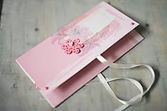 Papiernictvo - Obálka na peniaze - svadba / krst / ružová - 6644192_