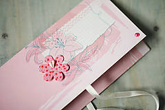 Obálka na peniaze - svadba / krst / ružová