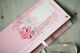 Papiernictvo - Obálka na peniaze - svadba / krst / ružová - 6644193_