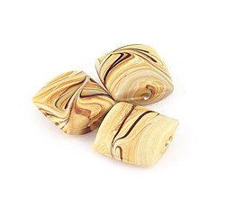 Korálky - Vinutka Wooden terroso square - 6645028_