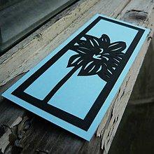 Papiernictvo - Modrý kvet... - 6645210_