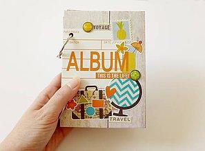 Papiernictvo - minialbum na fotografie cestovateľský - 6641728_