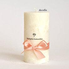Svietidlá a sviečky - Biela sviečka s nápisom - 6645198_