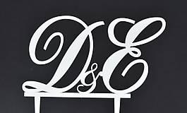 Dekorácie - ozdoba na tortu - iniciálky - 6642267_