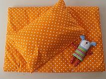 Posteľné obliečky De Luxe STAR pomarančové
