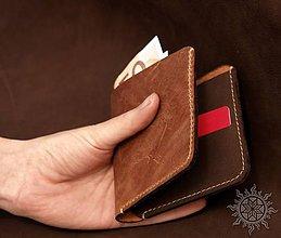 Peňaženky - Jednoduchá kožená peňaženka I. - 6645306_
