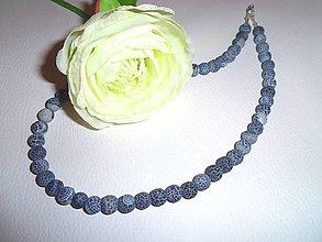 Náhrdelníky - achát riflový náhrdelník - 6642358_