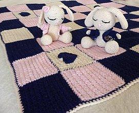 Úžitkový textil - Set deka + zajačik - 6644317_