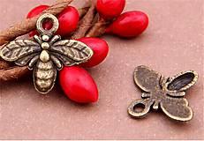 - 10ks bronzových včeličiek - 6642096_