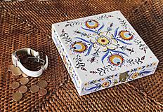 Krabičky - Ručne maľovaná šperkovnica Martinka - 6645021_