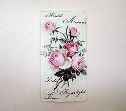 Papier - Servítka M0-Love rose vreckovka - 6644157_