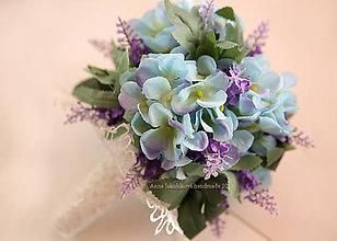 Kytice pre nevestu - kytica pre družičku z umelých kvetov - 6642344_
