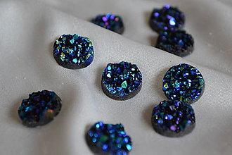 Komponenty - Kabošon druzy modrý 12mm, 0.15€/ks - 6642245_