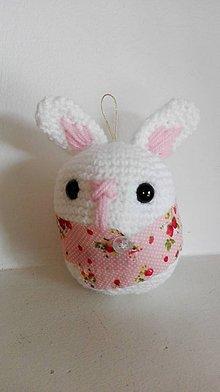 Hračky - zajko na zavesenie - 6647893_