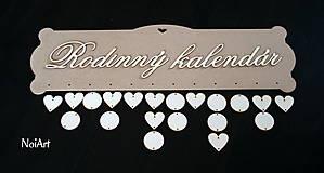 Polotovary - Tabuľka na dotvorenie: Rodinný kalendár - 6648699_