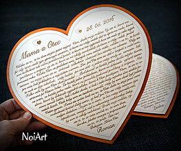 Tabuľky - Veľké srdce Poďakovanie Rodičom 12 - 6646236_