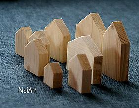 Dekorácie - Dekorácia Domčeky jednoduché - 6646443_